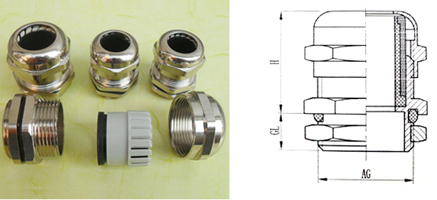 G.NPT type metallic waterproof cable glands